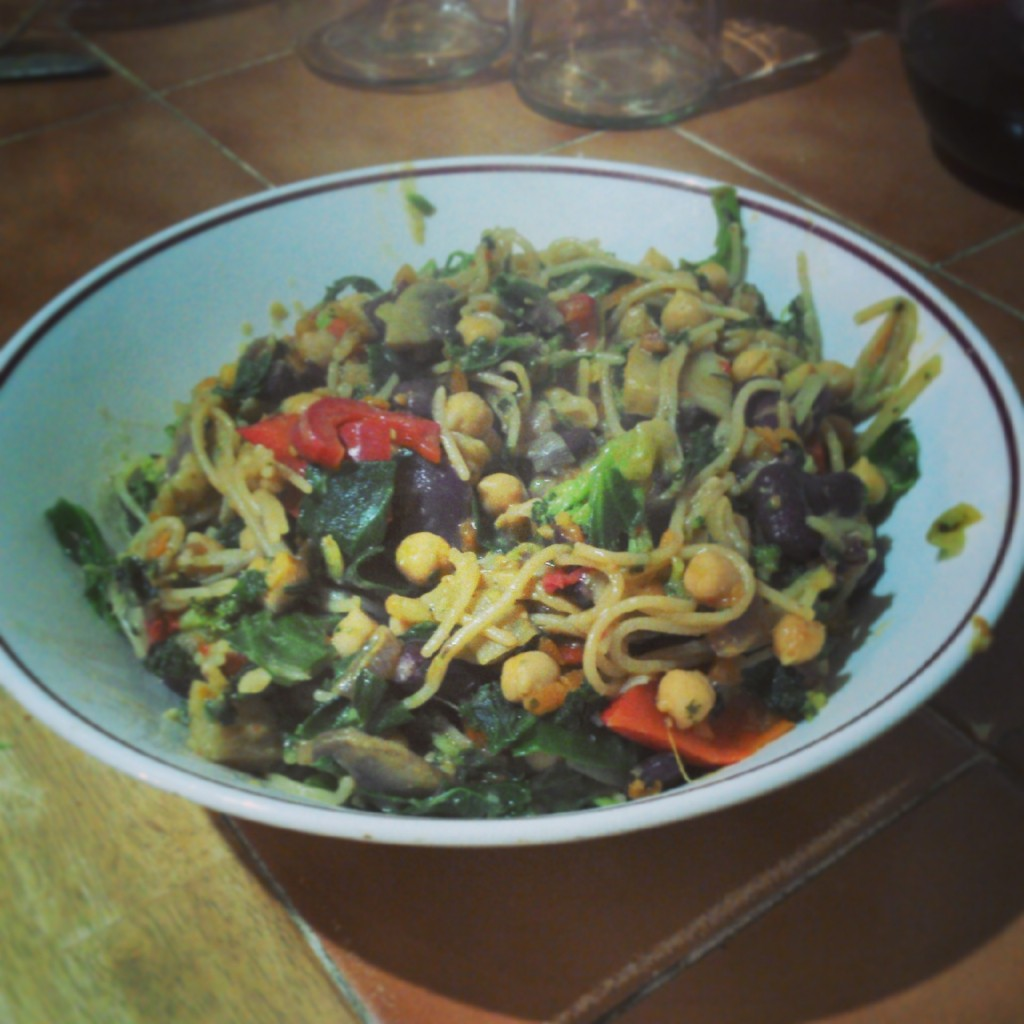 Quick Peanut, Veg and Miso Stir Fry
