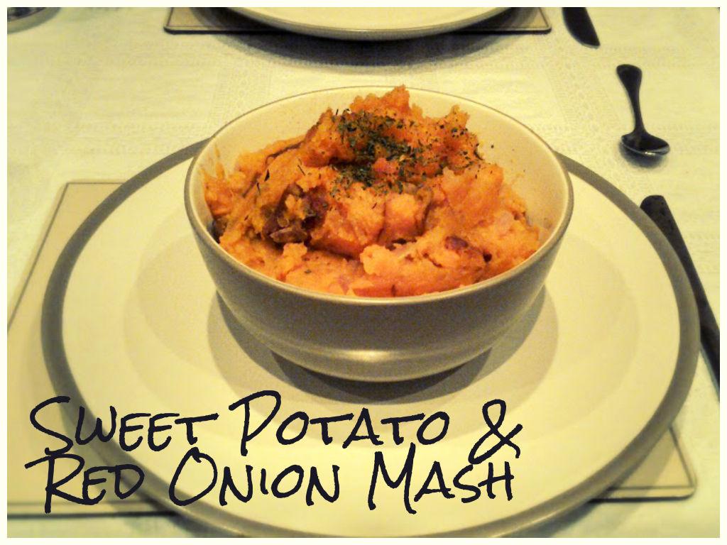 Red Onion & Sweet Potato Mash Recipe (vgn) (gf)