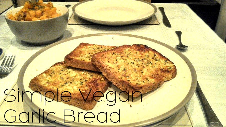 Simple Vegan Garlic Bread Recipe (vgn) (gfo)