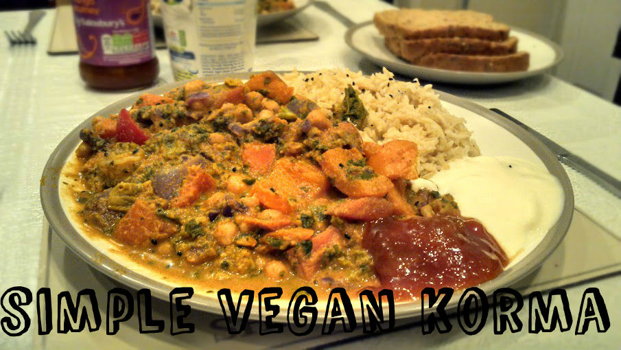 Simple Vegan Korma Curry Recipe (vgn) (gf)