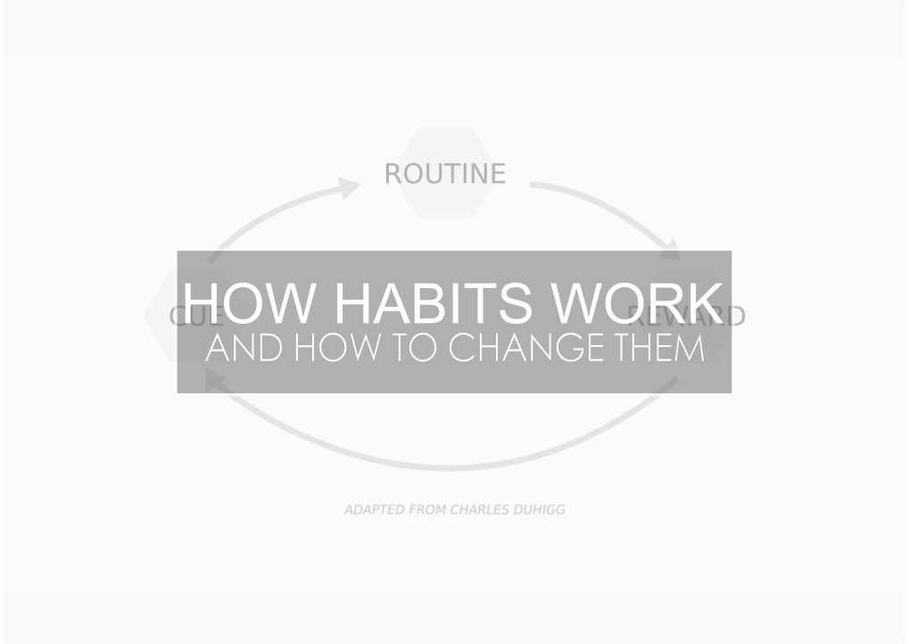 How Habits Work (And How To Change Them)