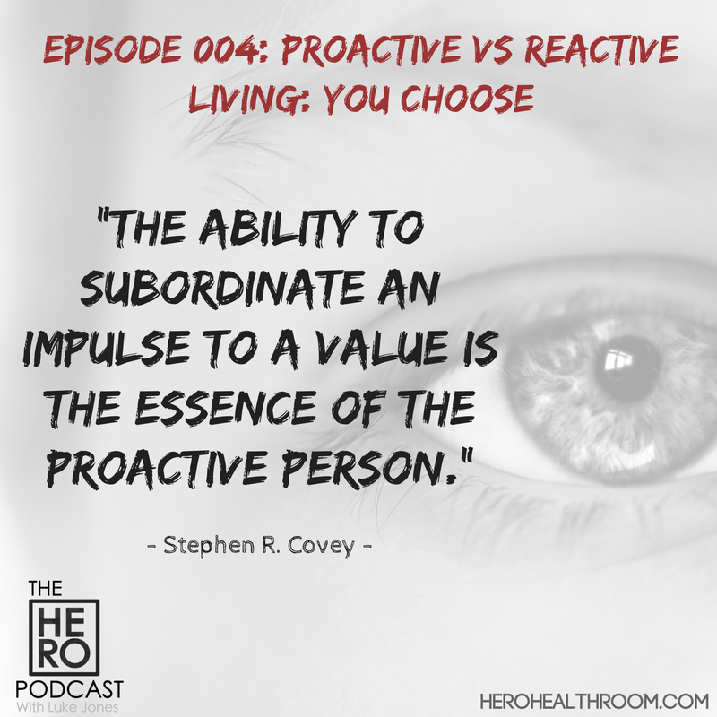 004 | Proactive vs Reactive Living: You Choose